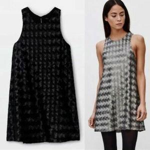 Aritzia Talula Canterbury Matte Black Sequin Dress